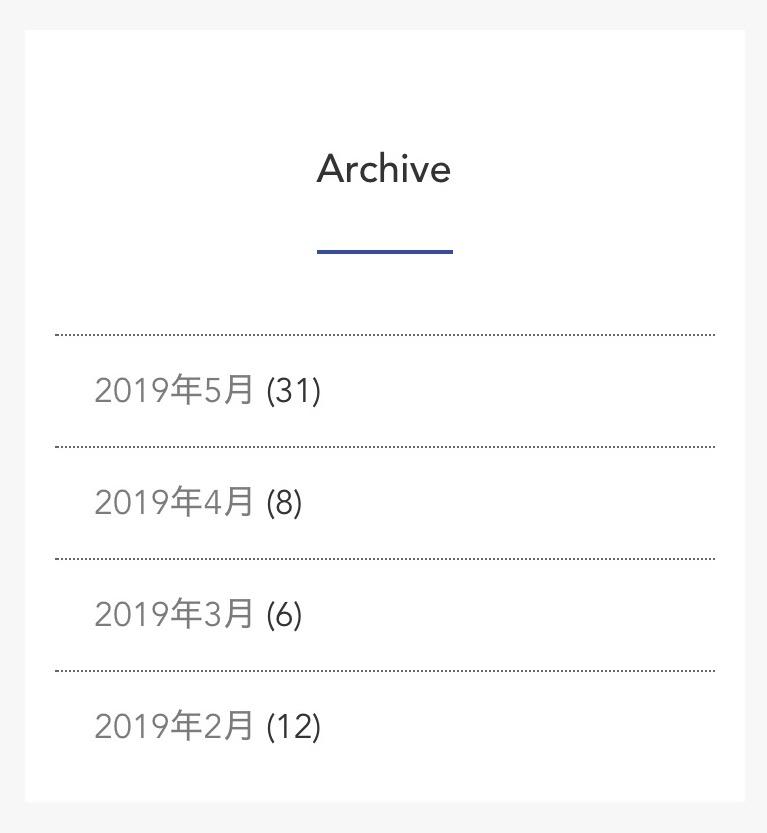 ブログ更新履歴の画像