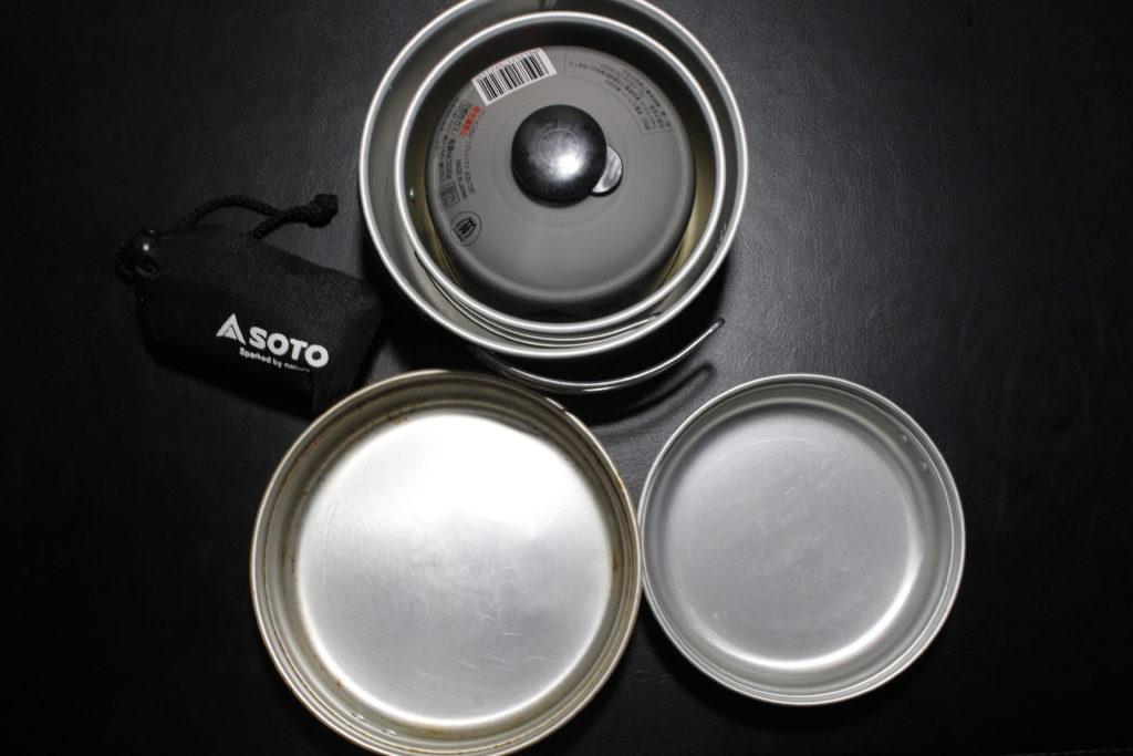 SOTOのガス周りギア説明画像